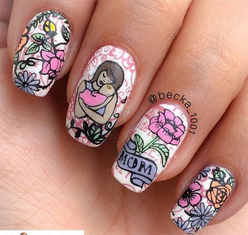 20-Best-Mother's-Day-Nails-Art-Designs-Ideas-2019-6