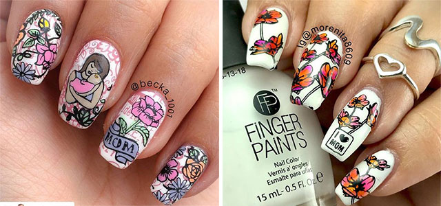 20-Best-Mother's-Day-Nails-Art-Designs-Ideas-2019-F