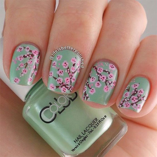 Cherry-Blossom-Spring-Nails-Art-Designs-Ideas-2019-10
