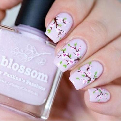 Cherry-Blossom-Spring-Nails-Art-Designs-Ideas-2019-13