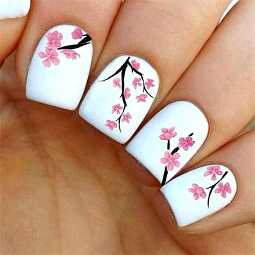 Cherry-Blossom-Spring-Nails-Art-Designs-Ideas-2019-14