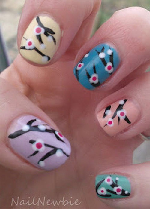 Cherry-Blossom-Spring-Nails-Art-Designs-Ideas-2019-16