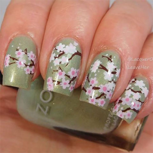 Cherry-Blossom-Spring-Nails-Art-Designs-Ideas-2019-9