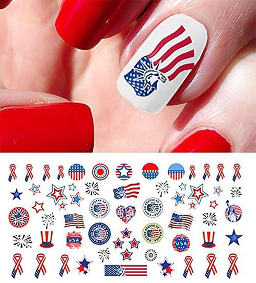 4th-of-July-Nails-Art-Stickers-Decals-2019-13