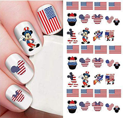 4th-of-July-Nails-Art-Stickers-Decals-2019-14