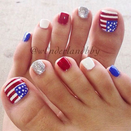 4th-of-July-Toe-Nails-Art-Designs-Ideas-2019-8
