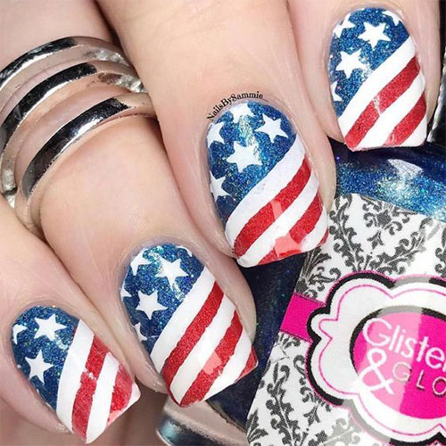 American-Flag-Nail-Art-Designs-Ideas-2019-4th-of-July-Nails-1