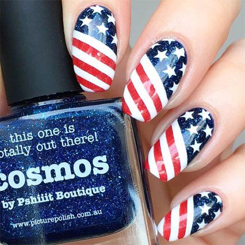 American-Flag-Nail-Art-Designs-Ideas-2019-4th-of-July-Nails-11