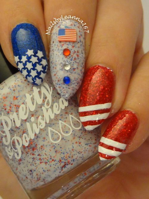 American-Flag-Nail-Art-Designs-Ideas-2019-4th-of-July-Nails-12