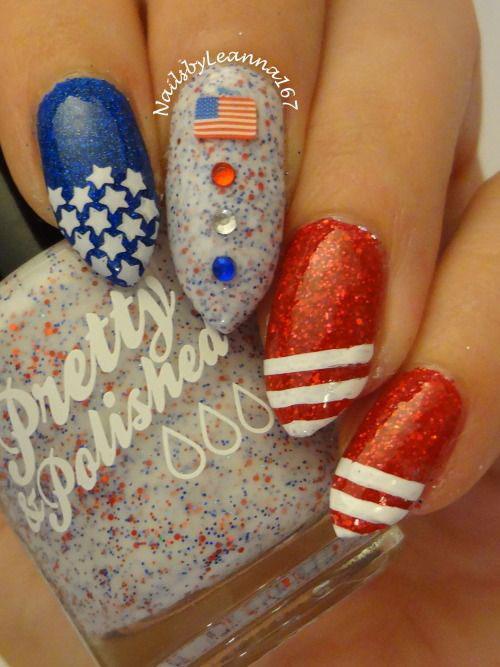 American-Flag-Nail-Art-Designs-Ideas-2019-4th-of-July-Nails-12