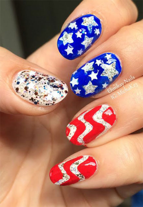 American-Flag-Nail-Art-Designs-Ideas-2019-4th-of-July-Nails-13