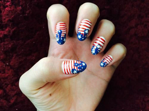 American-Flag-Nail-Art-Designs-Ideas-2019-4th-of-July-Nails-15