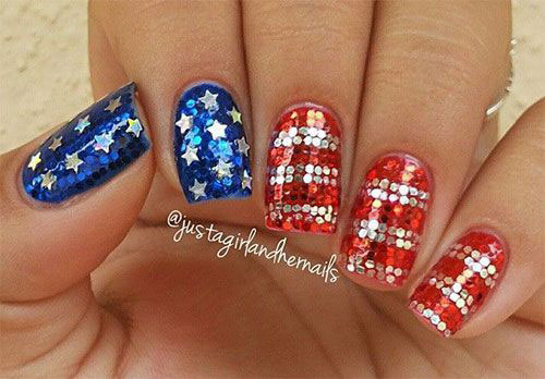 American-Flag-Nail-Art-Designs-Ideas-2019-4th-of-July-Nails-4
