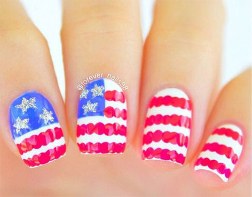 American-Flag-Nail-Art-Designs-Ideas-2019-4th-of-July-Nails-5