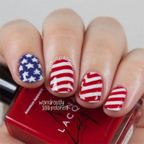 American-Flag-Nail-Art-Designs-Ideas-2019-4th-of-July-Nails-7