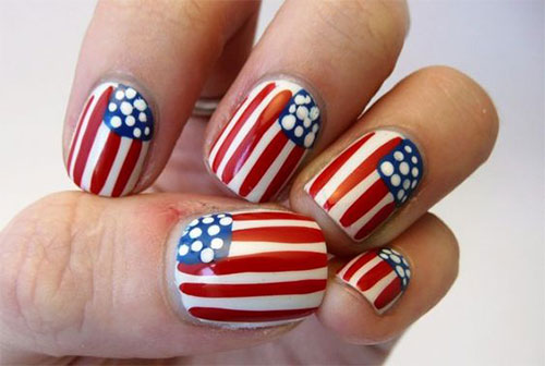 American-Flag-Nail-Art-Designs-Ideas-2019-4th-of-July-Nails-8