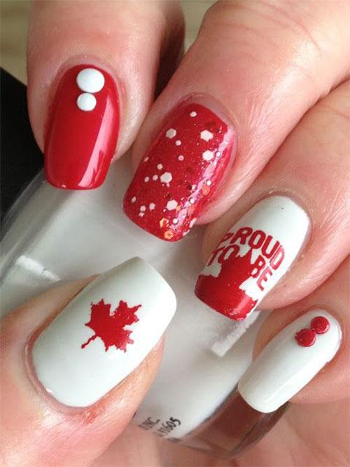 Canada-Day-Nails-Art-Designs-Ideas-2019-10