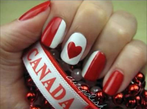 Canada-Day-Nails-Art-Designs-Ideas-2019-11