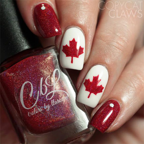 Canada-Day-Nails-Art-Designs-Ideas-2019-13