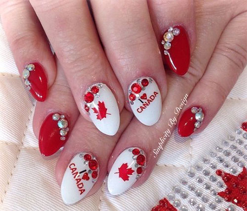 Canada-Day-Nails-Art-Designs-Ideas-2019-15