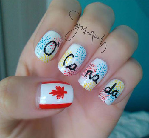 Canada-Day-Nails-Art-Designs-Ideas-2019-2