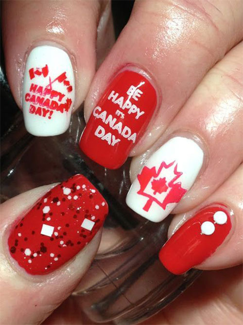 Canada-Day-Nails-Art-Designs-Ideas-2019-4