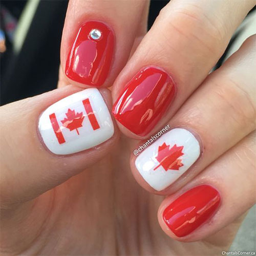 Canada-Day-Nails-Art-Designs-Ideas-2019-5