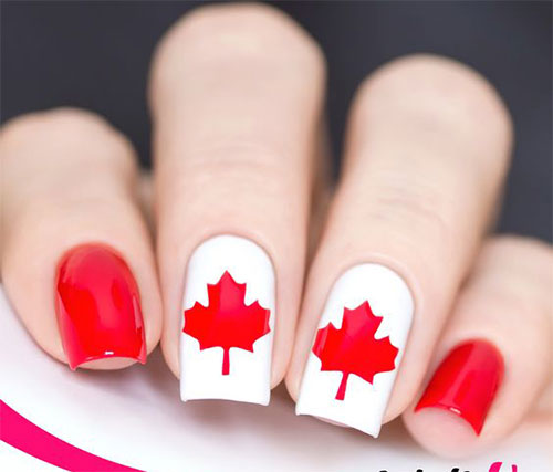 Canada-Day-Nails-Art-Designs-Ideas-2019-6
