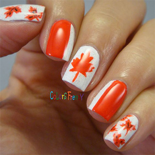 Canada-Day-Nails-Art-Designs-Ideas-2019-7