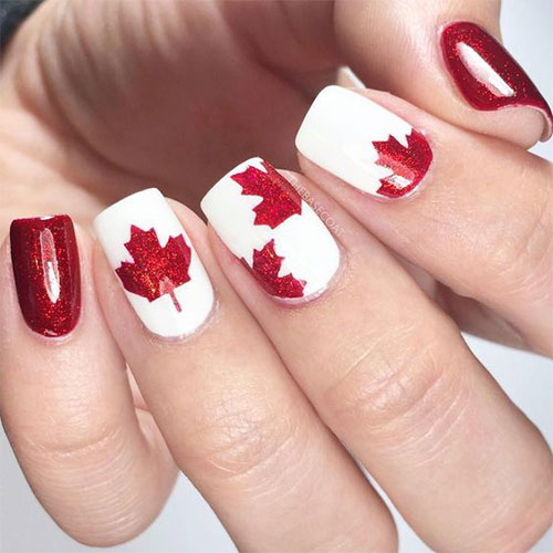 Canada-Day-Nails-Art-Designs-Ideas-2019-8