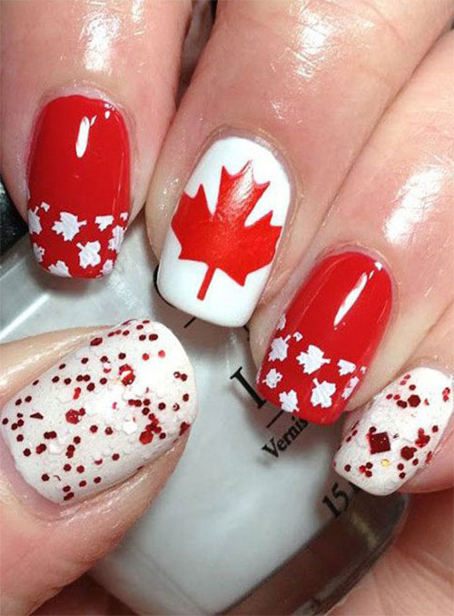 Canada-Day-Nails-Art-Designs-Ideas-2019-9
