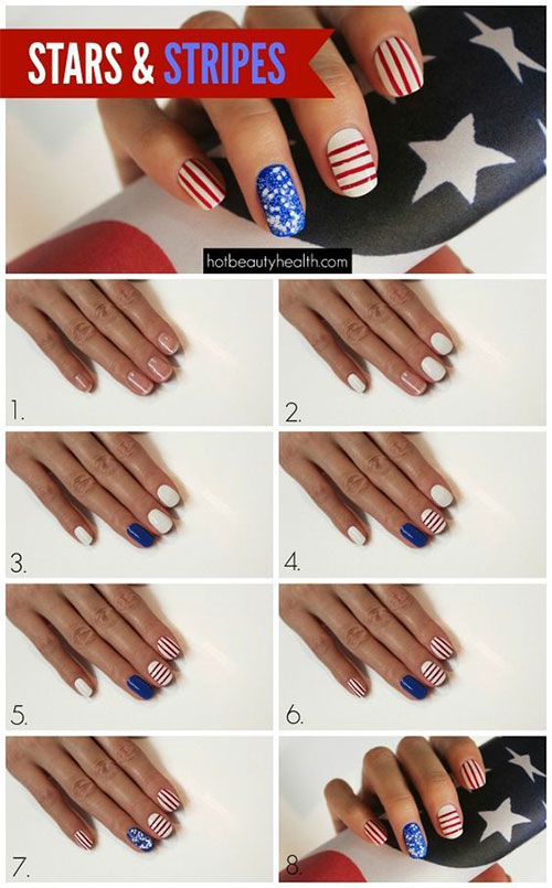 Step-By-Step-4th-of-July-Nails-Tutorials-For-Beginners-2019-2
