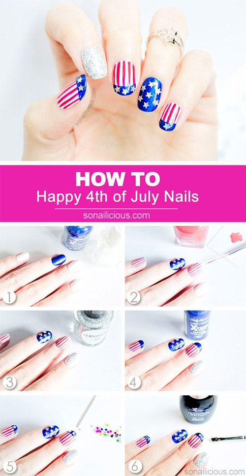 Step-By-Step-4th-of-July-Nails-Tutorials-For-Beginners-2019-3