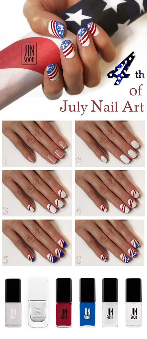 Step-By-Step-4th-of-July-Nails-Tutorials-For-Beginners-2019-6