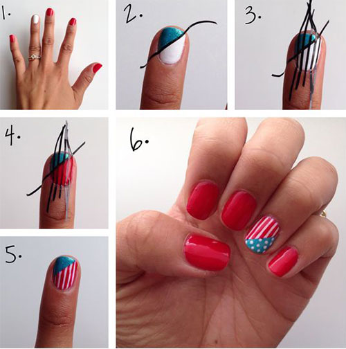 Step-By-Step-4th-of-July-Nails-Tutorials-For-Beginners-2019-7