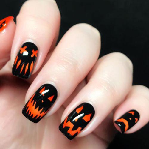 18-Easy-Halloween-Pumpkin-Nails-Art-Designs-Ideas-2019-1