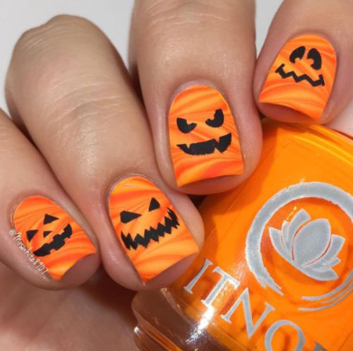 18-Easy-Halloween-Pumpkin-Nails-Art-Designs-Ideas-2019-15