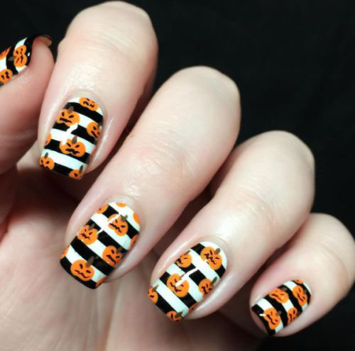 18-Easy-Halloween-Pumpkin-Nails-Art-Designs-Ideas-2019-16
