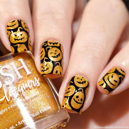 18-Easy-Halloween-Pumpkin-Nails-Art-Designs-Ideas-2019-17