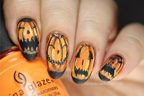 18-Easy-Halloween-Pumpkin-Nails-Art-Designs-Ideas-2019-3