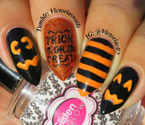18-Easy-Halloween-Pumpkin-Nails-Art-Designs-Ideas-2019-4
