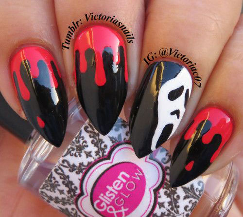 15-Black-White-Red-Halloween-Nails-Art-Designs-Ideas-2019-1