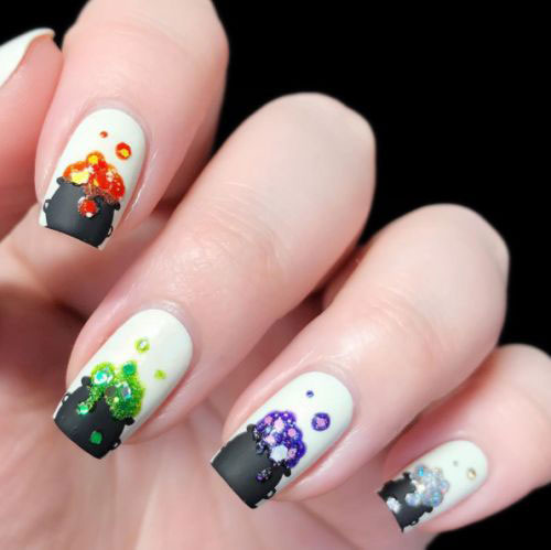 15-Black-White-Red-Halloween-Nails-Art-Designs-Ideas-2019-15