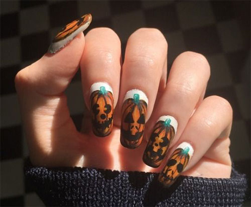 15-Black-White-Red-Halloween-Nails-Art-Designs-Ideas-2019-17