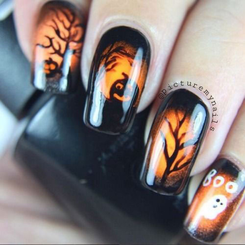 15-Black-White-Red-Halloween-Nails-Art-Designs-Ideas-2019-3
