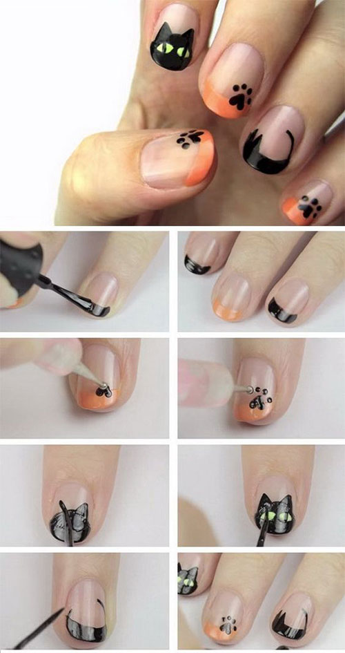 Easy-Step-By-Step-Halloween-Nails-Art-Tutorials-For-Beginners-2019-14