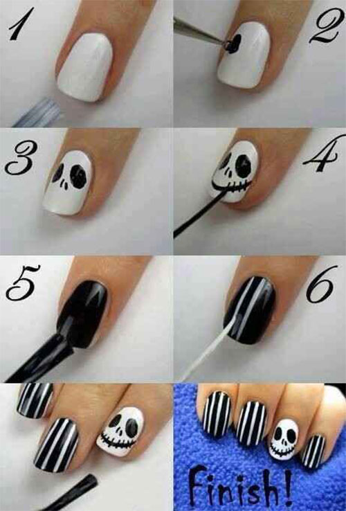 Easy-Step-By-Step-Halloween-Nails-Art-Tutorials-For-Beginners-2019-15