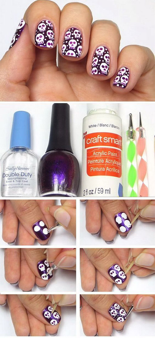 Easy-Step-By-Step-Halloween-Nails-Art-Tutorials-For-Beginners-2019-6