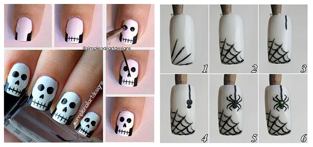 Easy-Step-By-Step-Halloween-Nails-Art-Tutorials-For-Beginners-2019-F