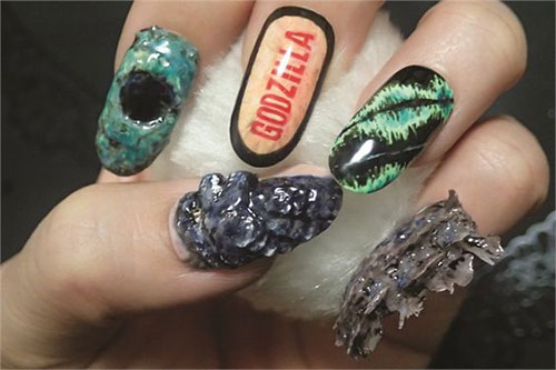 Godzilla-Nail-Art-Designs-Ideas-Trends-2019-Godzilla-Nails-3